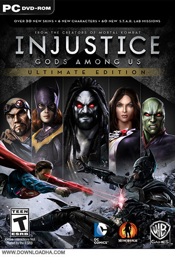 Injustice gods pc cover دانلود بازی Injustice Gods Among Us Ultimate Edition برای PC